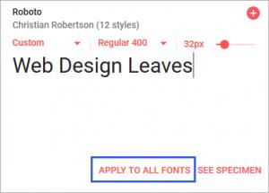 「Custom」を選択した場合の表示