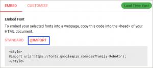 フォントの読み込み・指定のコード
